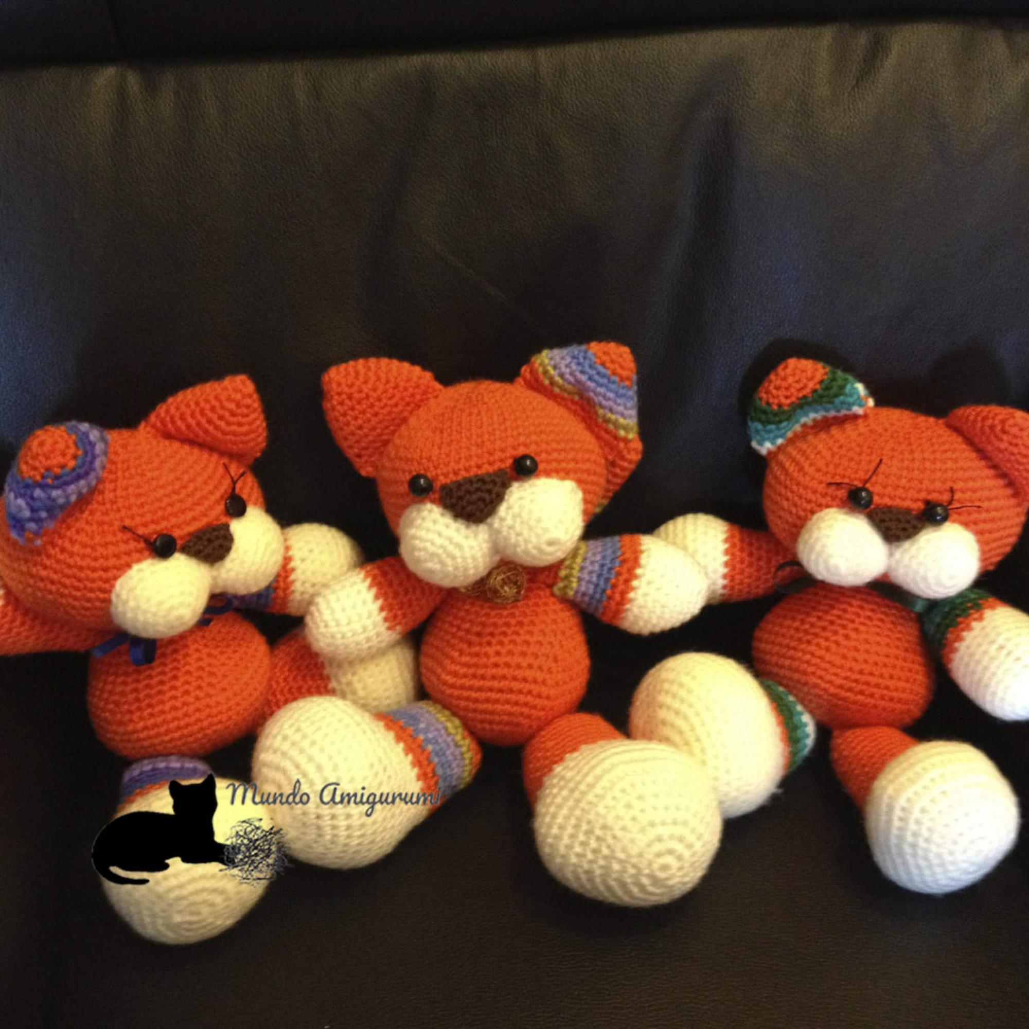 Tres gatos Naranjas