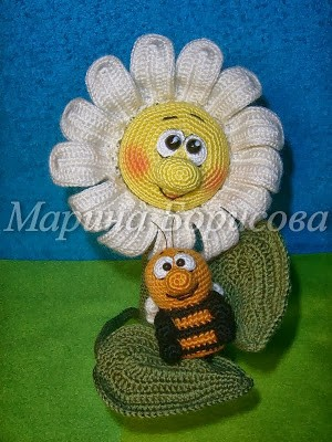 Margarita y abeja