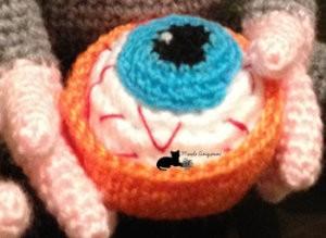 Cupcake ojo sangriento