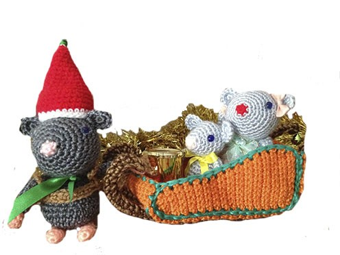 Ratones navideños