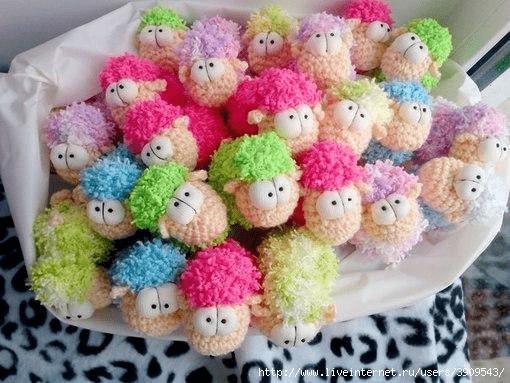 ovejas de colores