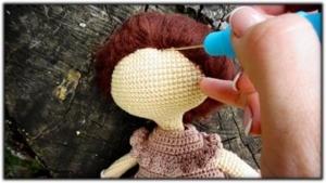 Muñeca de epoca pelo y peinado 3
