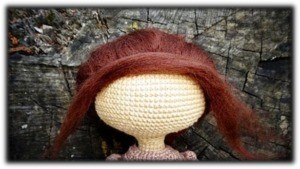 Muñeca de epoca pelo y peinado 7