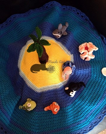 animales marinos isla desde arriba